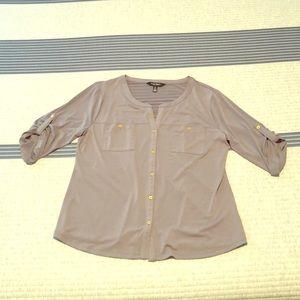 Ellen Tracy gray dress shirt